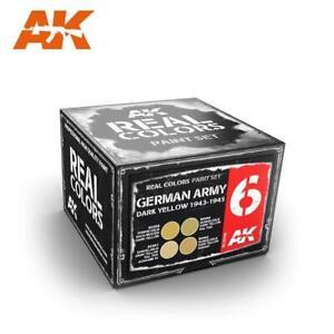 AK Real Color - GERMAN ARMY DARK YELLOW 1943-1945 SET