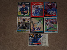 LOT OF (14) DIFFERENT TORONTO BLUE JAYS SIGNED AUTOGRAPHED BASEBALL CARDS STARS+