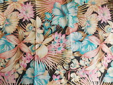 Estate Fabric Concord Tropical Flowers Palm Floral Hawaiian Hibiscus +++++ Quilt