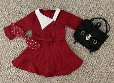 American Girl Kit's Christmas Dress & Hairbow w/ Bonus Bookbag, Retired