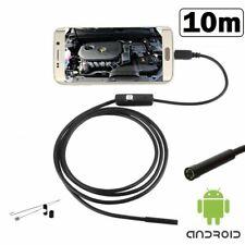 TELECAMERA ENDOSCOPICA SONDA PER ISPEZIONE USB 10M 6LED IP67 ANDROID PC NOTEBOOK