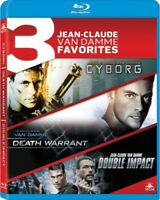 3 Jean-Claude Van Damme Favorites: Cyborg / Death Warrant / Double Impact [New B