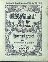 Händel - Concerti Grosso Nr. 17 - Partitur