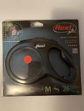 Flexi New Classic Retractable Dog Leash (Cord), 26 ft, Medium, Black