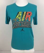 Air Jordan Nike Women's Medium Boys Large Shirt Green Unique Graphics Retro Rare