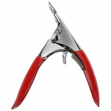 Red Acrylic UV Gel False Nail Art Tips Edge Cutter Clipper Manicure Tool G2F1