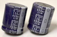 Nichicon Snap in Capacitor - 2 pcs - CE 105*C, 150uF, 400WV,