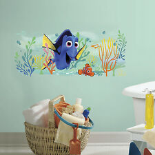 """FINDING DORY AND NEMO GIANT WALL DECALS 39"""" Disney Stickers Kids Bathroom Decor"""
