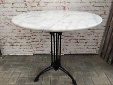 Bistrotisch Outdoor Gastro mit Marmor und Gusseisen Tisch Ø80cm NEU 5er Set