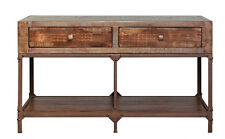 Industrial style Rustic solid wood and Metal Sofa Table Console table Hallway