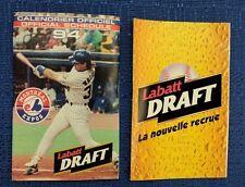 MLB MONTREAL EXPOS 1994 LABATT'S POCKET SCHEDULE LARRY WALKER