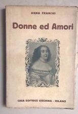 DONNE ED AMORI ANNA FRANCHI CESCHINA 1931