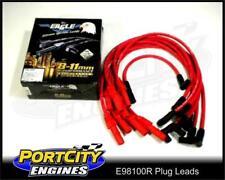 Eagle Spark Plug Leads Holden V8 9mm VC-VL Post Type (Electronic) RED E98100R
