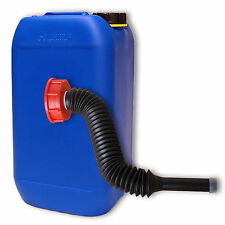 Kanister Trinkwasserkanister 15L blau DIN 61 stapelbar 1 Ausgießer flexibel lang