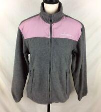 Spyder Womens Fleece Jacket 10 Gray Pink Full Zip