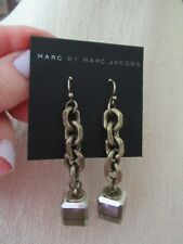 NWT Marc By Marc Jacobs Chain Link Linear Drop Earrings/- Square Bottoms -$98