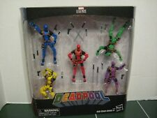 Marvel Legends Rainbow Deadpool Set of Five FoolKiller Terror Slapstick NEW
