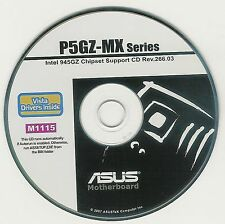 ASUS P5GZ-MX Motherboard Drivers Installation Disk M1115