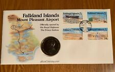 Stamp & Coin Cover-Opening Of Falkland Island Mount Pleasant Airport-1983