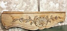 Flower shell decorative carving pediment Antique french architectural salvage