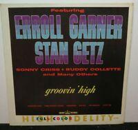 ERROLL GARNER STAN GETZ GROOVIN HIGH (VG+) CLP-5284 LP VINYL RECORD