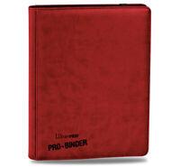 Ultra PRO Premium Pro Leatherette 9-Pocket Folder Portfolio Album RED