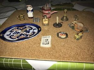 dolls house miniatures bundle bits and bobs Old Pieces