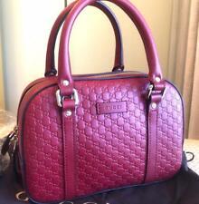 Gucci Guccissima Rosso Bree Leather Small Shopping Tote Bag #510289