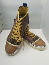 Sorel Stitched Leather Rubber Men Brown Chukka Boot Sz 12 Shoes Lace Up 1669-204