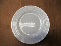 "Mikasa Bone China CIARA White Dinner Plate 10 5/8"" Embossed Rings  3 available"