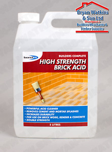 HIGH STRENGTH BRICK ACID BASED CLEANER REMOVING CEMENT AND MORTAR SPLASHES TILES