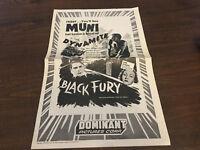 PRESSBOOK MOVIE POSTER ADDS PAUL MUNI BLACK FURY