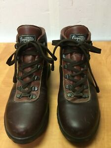 VASQUE Boots Burgundy Leather 7535 Skywalk Gore-Tex Hiking Mens 9.5 N Italy