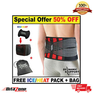 Back Support Belt Brace Pain Relief Orthodontics Mobility Yoga Gym Sleeves MED