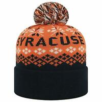 Syracuse University Orangemen NCAA Cuffed Knit Pom Winter Hat Top of World NEW