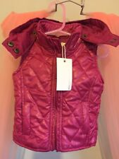 New Cute Baby Girls Pumpkin Patch Pink Quilted Winter Gillet Body Warmer 0-3💖