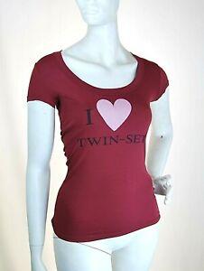 T-Shirt Maglietta Donna Maglia TWIN-SET S.Barbieri Italy H425 Viola Tg  S/M