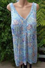 BeMe Size S-18 Soft Pastel Sleeveless TOP NEW rrp $49.99 Plait Trim. Inbuilt Bra