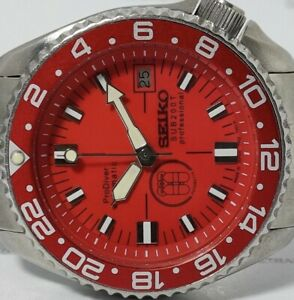 PRODIVER RED MODDED VINTAGE SEIKO DIVER 7002-7000 AUTOMATIC MEN'S WATCH 2N5403