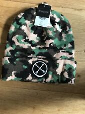 Topshop Army khaki Beanie Hat Camaflague