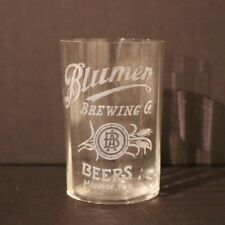 Blumer Brewing Etched Paneled Glass - Monroe WI