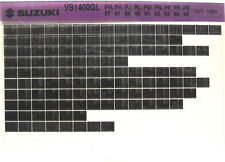 Suzuki VS1400 GL Intruder 87 88 89 90 91 92 93 94 95 Parts Microfiche s465