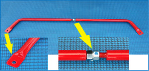 Barra duomi regolabile Fiat 500 F-L-R-G e 126 - Adjustable strut bar
