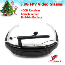 """5.8G 40CH Wireless FPV Goggles HD Video Glasses 68"""" for RC Racing Quad Drone USA"""