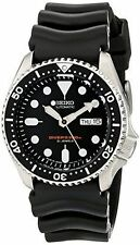 New Seiko SKX007J1 Japanese Automatic Black Rubber Diver's Watch Sport Watch