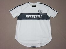 BEEN TRILL MENS WHITE W/ DARK BLUE SIGNATURE GRAPHIC JERSEY SHIRT SIZE XL NEW