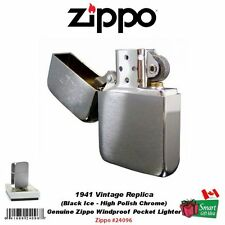 Zippo 1941 Vintage Replica Pocket Lighter, Black Ice, Genuine USA, Box #24096