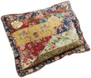 """JCPenny """"Elmsford"""" Patchwork King Size Pillow Sham Set of 2"""