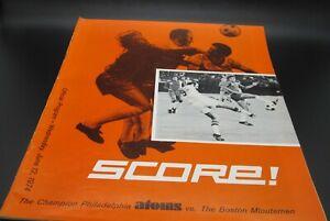 1974 NASL North American Soccer Philadelphia Atoms Vs. Boston Minutemen Program