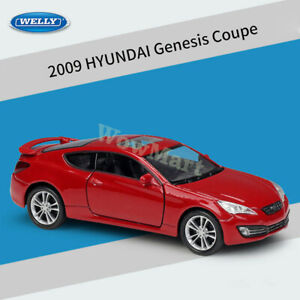 WELLY 1:36 2009 Hyundai Genesis Coupe Diecast Pull Back Car Model Toy Collection
